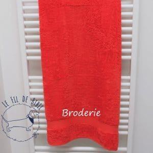 Serviette de douche de Witte Lietaer poppy red