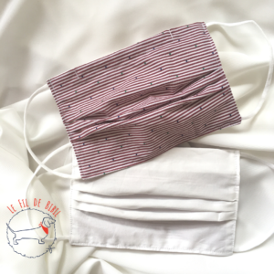 Masque buccal en tissu coton du Fil de Bibil